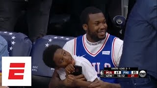 Best moments from Meek Mill's day, being released from prison and watching 76ers win   ESPN