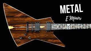 Wild Melodic Metal   Guitar Backing Track Jam in Em