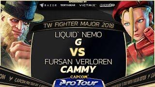 Liquid` Nemo (G) vs Fursan Verloren (Cammy) - TW Fighter Major 2018 Day 2 Top 32 - SFV - CPT 2018