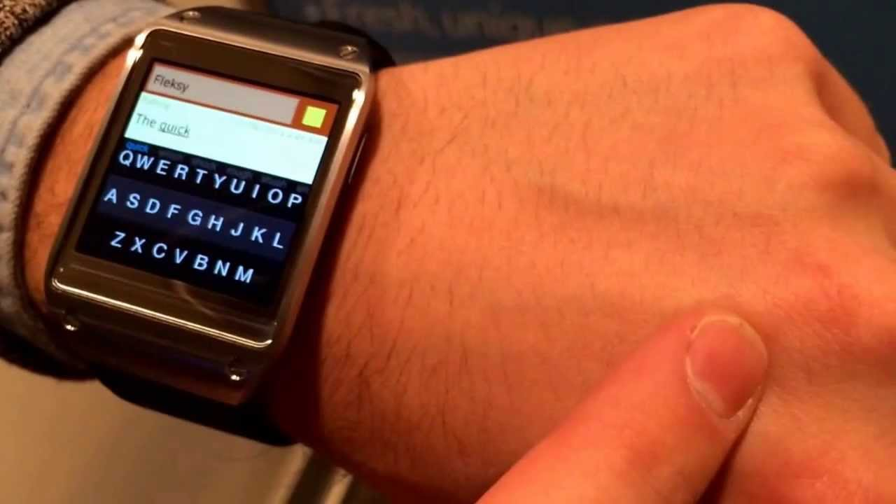 Fleksy keyboard for Galaxy Gear hands-on thumbnail
