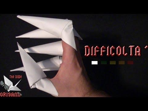 [ORIGAMI ITA] Artigli || Origami di Carnevale e Halloween/Per Bambini (E Non Solo!)