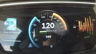 Tesla Model S sprint: from 0 to 120 km/h