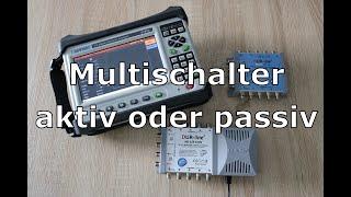 SAT Multischalter Aktiv oder Passiv (Vor und Nachteile) eco LNB Stromverbrauch