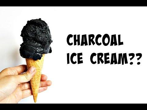 Video Charcoal Ice Cream Recipe | Vegan