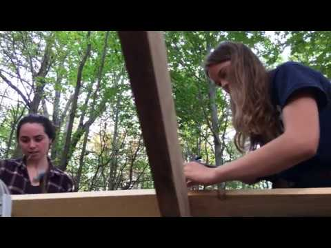 Building a Camping Shelter at MacLeish Field Station