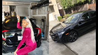 i bought my first car at 18 in CASH  2019 HONDA CIVIC SPORT