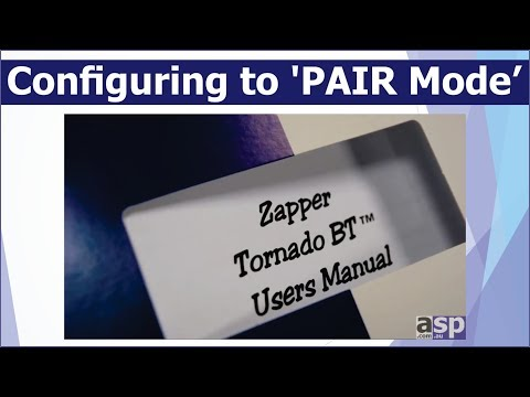 Configuring scanner & cradle to 'PAIR Mode'