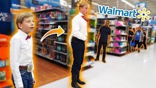 JAKE PAUL YODELING IN WALMART!! *KICKED OUT* - Video Youtube