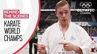 Jesse Enkamp takes us behind the scenes at the Karate World Championships