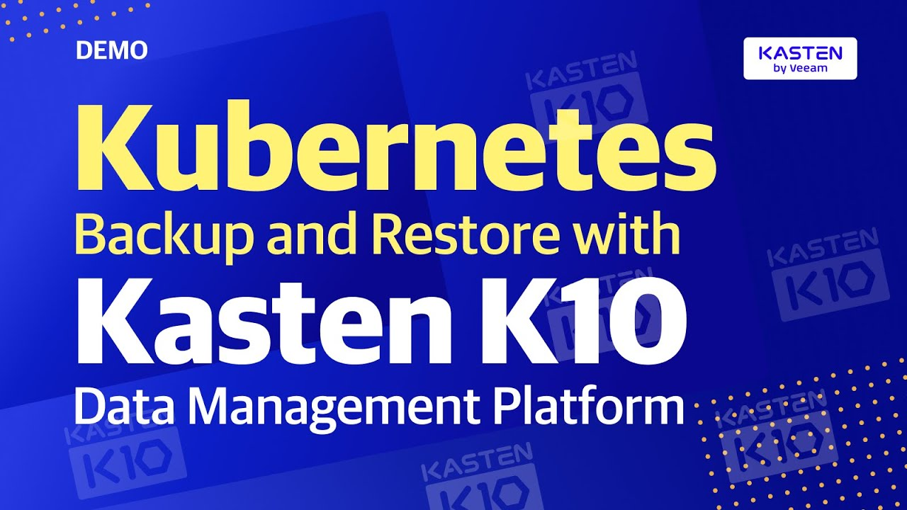 Gestión de datos nativa de Kubernetes video