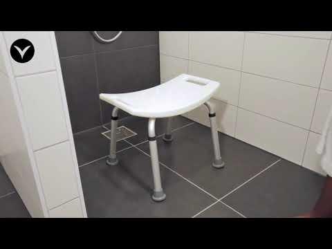 tabouret de douche et de bain avec poignées