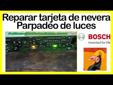 Cómo reparar tarjeta de refrigerador Bosch, Parpadeo flasheo de luces