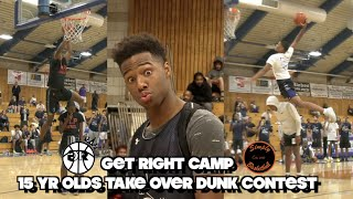 15 Year Olds Take Over Dunk Contest I Get Right Camp I Jon Jon Schooley, Tyree Gill & More!!!
