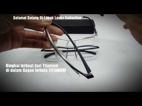 5ddedfa3b92 Titanium glasses Porsche design p8189 Eyewear Lookz Collection