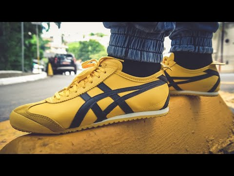 onitsuka tiger mexico 66 yellow zip tie