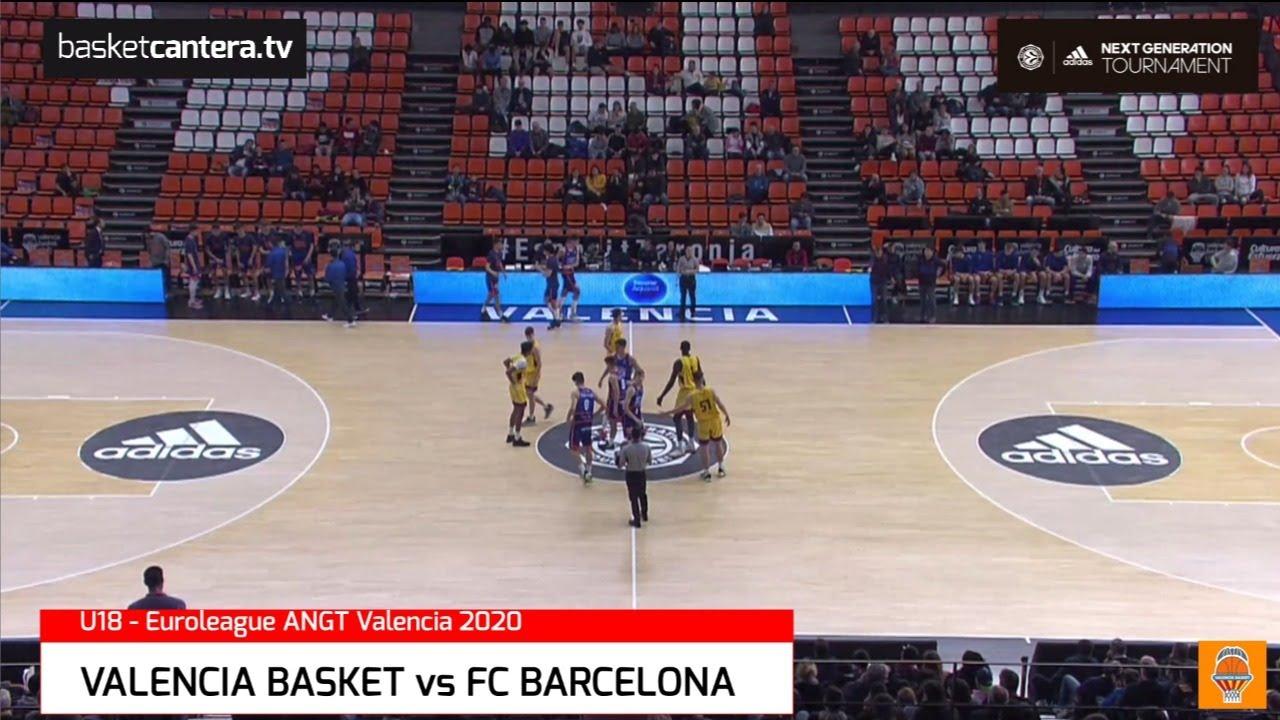 U18M - VALENCIA BASKET vs FC BARCELONA.- EB. Adidas Next Generation Tournament  (Valencia 2020)