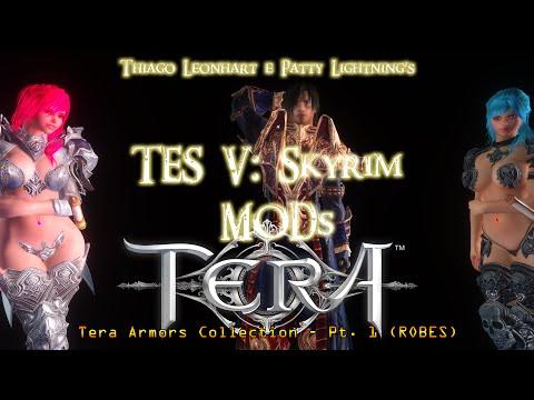 TES V - Skyrim MODs - Tera Armors Collection (ROBES) 1080p