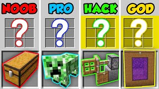 Minecraft NOOB vs. PRO vs. HACKER vs. GOD: HIDDEN CRAFTING RECIPES in Minecraft! (Animation)
