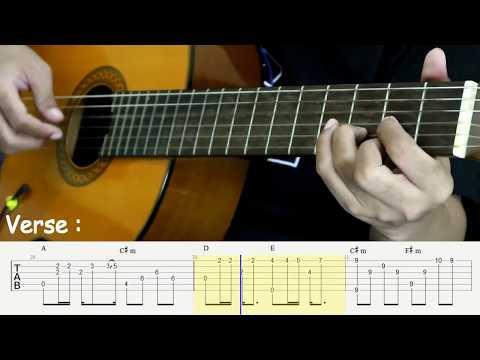 , title : 'Dengan Caraku - Arsy Widianto - Fingerstyle Guitar Tutorial - TAB'