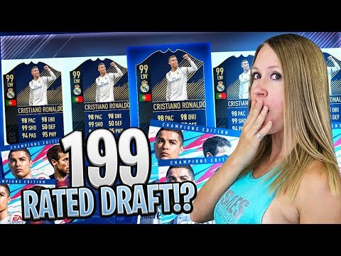 FIFA 18 199 RATED FUT DRAFT CHALLENGE!!