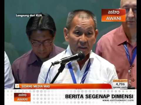 Sidang media terkini MAS berkenaan kehilangan pesawat MH370