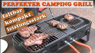 Der PERFEKTE Camping Grill: faltbarer Gasgrill, kompakt und leistungsstark!