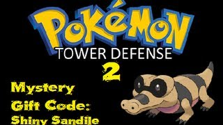 Sandile  - (Pokémon) - Pokemon Tower Defense 2 - Mystery Gift Code - Shiny Sandile + Shiny Drilbur