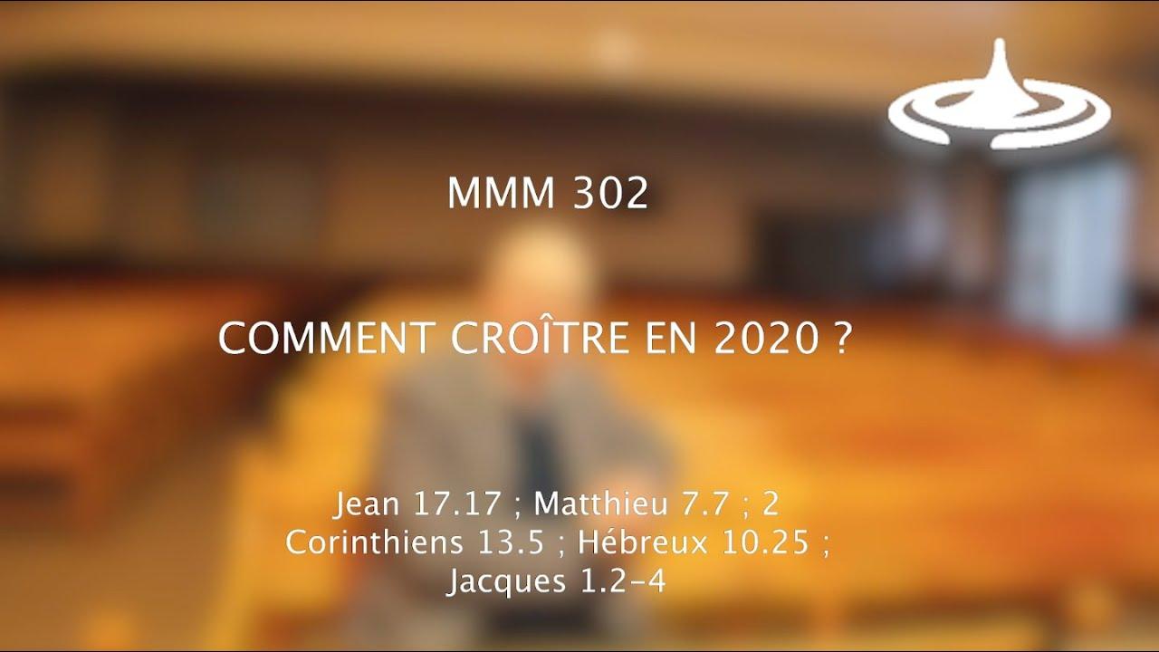 Comment croître en 2020 ? (Jn 17.17)