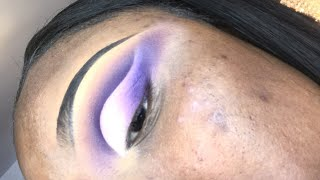 Spring Lavender Look 😍 late night makeup