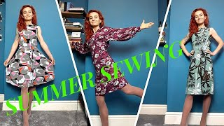 Sewing Vlog With July 2020 Makes -My Newest Perfect Summer Dress Patterns.