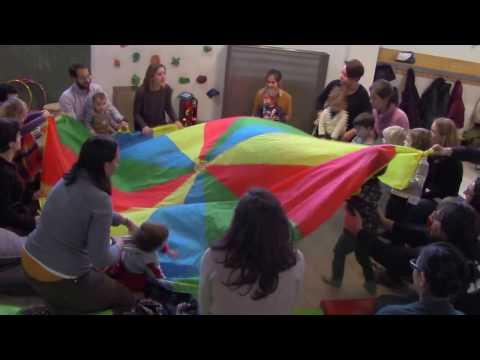 Estimulación musical con paracaídas: Las olas del mar
