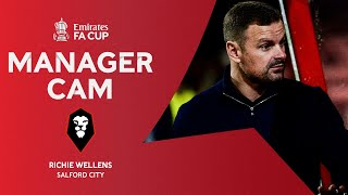 MANAGER CAM | Wellens' Salford City Debut | Emirates FA Cup 20-21
