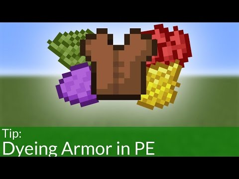 How To Dye Armor in Minecraft Pocket Edition