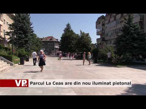 Parcul La Ceas are din nou iluminat pietonal