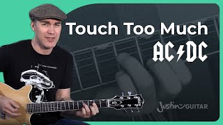 AC/DC - Touch Too Much Guitar Lesson Tutorial - Chords & Rhythm Malcolm Angus