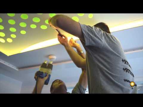 Master Stretch False Ceiling Installation