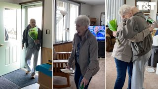 Husband Of 63 Years Surprises Wife On Birthday After Quarantine Apart