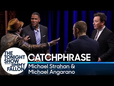 , title : 'Catchphrase with Michael Strahan and Michael Angarano'