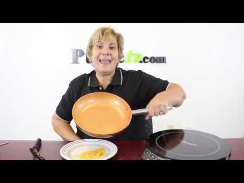"""9.5"""" Non-Stick Ceramic Copper Pan with Induction Base"""
