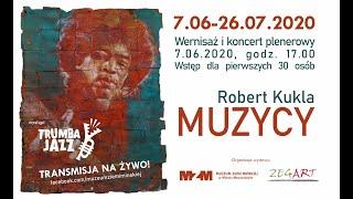 """Wernisaż wystawy Roberta Kukli """"Muzycy"""" z koncertem TRUMBA JAZZ"""