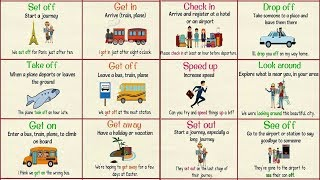 Useful Phrasal Verbs for TRAVEL in English | Travel Vocabulary & Phrases