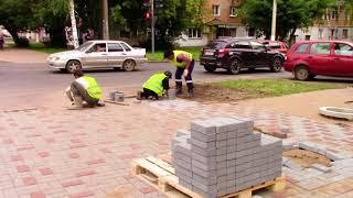 Благоустройство пешеходных зон тротуарной плиткой