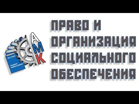 Право и организация социального обеспечения - экскурс по специальности (Бабич Дмитрий Александрович)