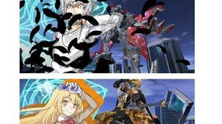 Shokuhou Misaki  - (A Certain Magical Index) - A Certain Magical Virtual-On: (Accelerator and Specineff) Shokuhou Misaki and Angelan)(Demo)