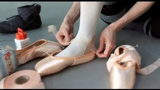 How ballet dancers prepare pointe shoes for performance