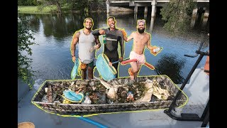 PICKING UP TRASH IN ALLIGATOR INFESTED CANALS !!!