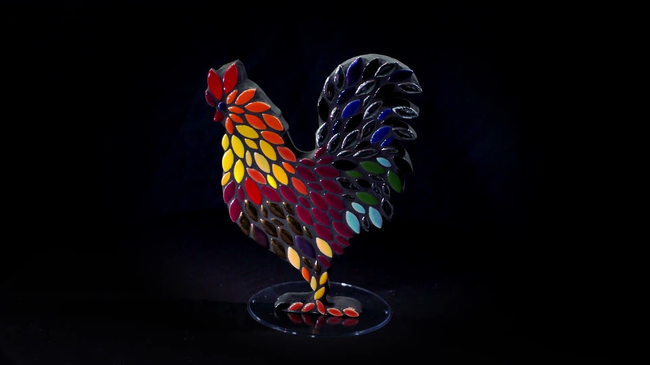 Mosaic rooster, DIY