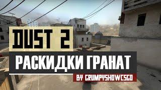 CS:GO Раскидки гранат на карте de_Dust2
