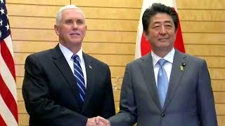 Vice President Mike Pence Visits Japan. VP Mike Pence Meets with Prime Minister Shinzō Abe. Feb 7, 2