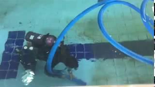 Limpeza e preparação da nova piscina do Rebouças